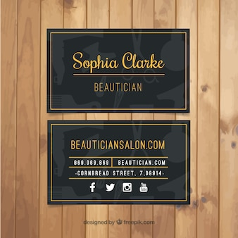 Dark beauty salon karty