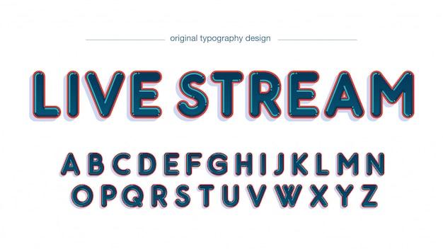 Dark blue rounded cartoon typography