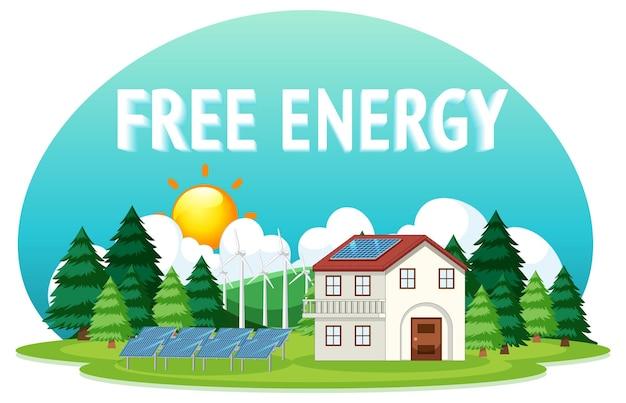 Darmowa energia generowana przez turbinę wiatrową i panel słoneczny