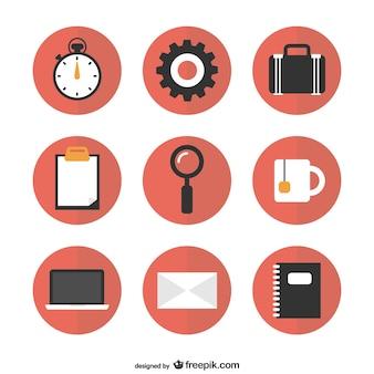 Darmowe ikony okrągłe płaskie grafiki