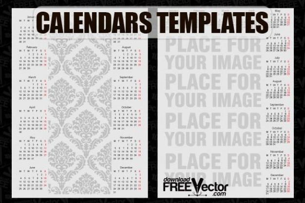 Darmowe szablony kalendarzy vector