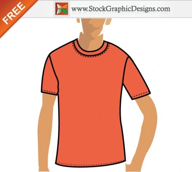 Darmowe vector pomarańczowy t shirt szablonu projektu