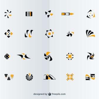 Darmowe wektor zestaw abstrakcyjne logotypy