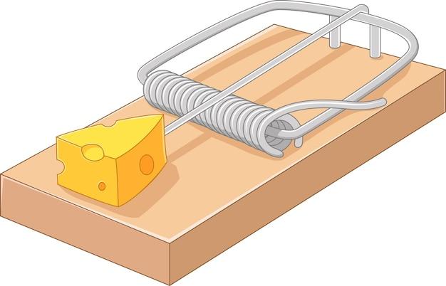 Darmowy ser w pułapce na myszy