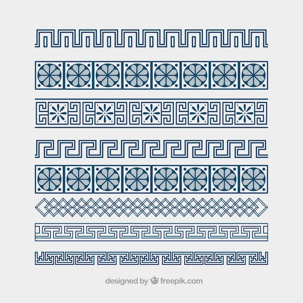 Darmowych grecki ornament granic wektor meander