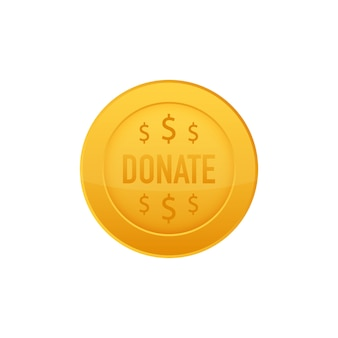Darowizna koncepcja dłoni i pieniądze przycisk w stylu płaski