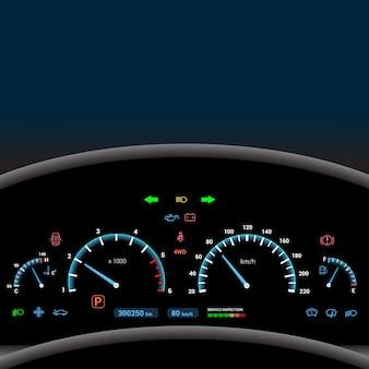 Dashboard tło z sygnałów koloru