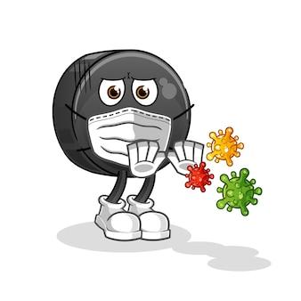 Data ilustracja wirusów odmowy owoców