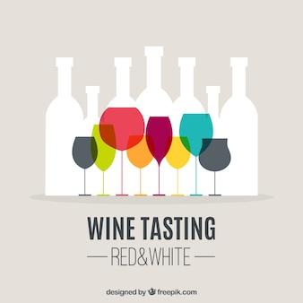 Degustacja wina w tle