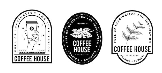 Deisgn vintage logo kawy