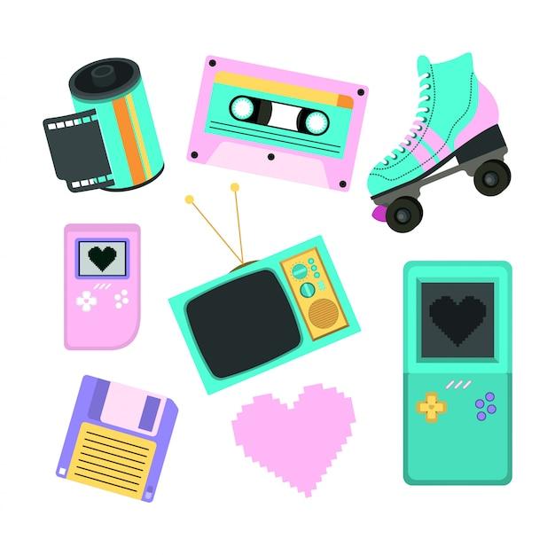 Dekady lat 90. zestaw ikon