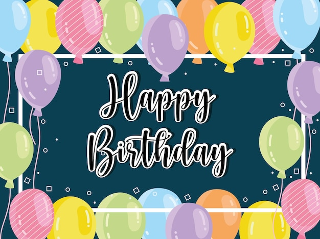 Dekoracja balonów z okazji urodzin