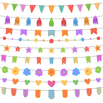 Dekoracja domu z okazji urodzin z girlandami