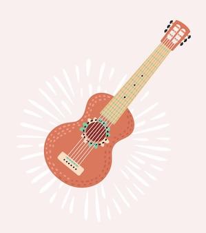 Dekoracja gitary na meksykańską fiestę