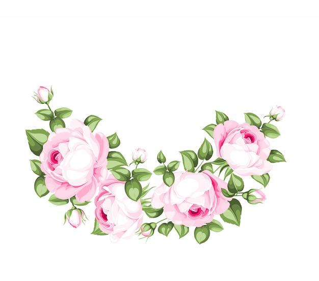 Dekoracja kwiatowa na białym tle