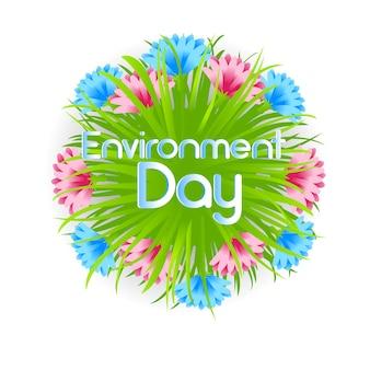 Dekoracja kwiatowa światowego dnia środowiska