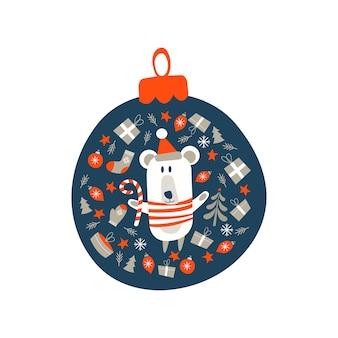 Dekoracja świąteczna bombka.
