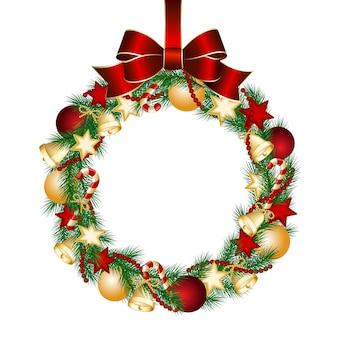 Dekoracja świąteczna wieniec