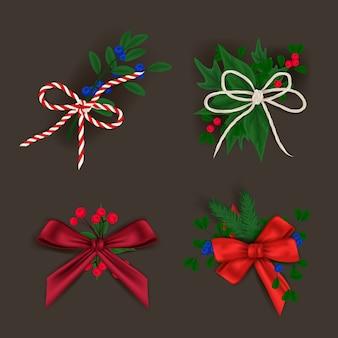 Dekoracja świąteczna Premium Wektorów