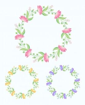 Dekoracja szablonu kwiatowy rama