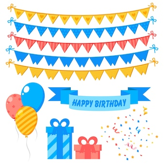 Dekoracja urodzinowa z balonami