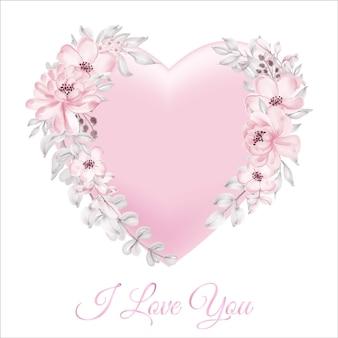 Dekoracja W Kształcie Różowej Karty Walentynkowej 3d Ze Szczęśliwym Motywem Walentynkowym Premium Wektorów
