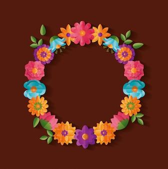 Dekoracja wieniec kwiatowy