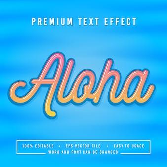 Dekoracyjna Czcionka I Alfabet Aloha Premium Wektorów
