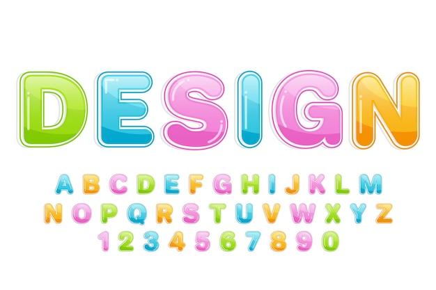 Dekoracyjna kolorowa czcionka i alfabet