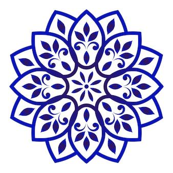 Dekoracyjna mandala kwiatowa