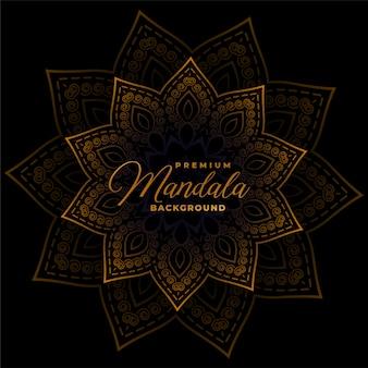 Dekoracyjna mandala na ciemnym czarnym tle