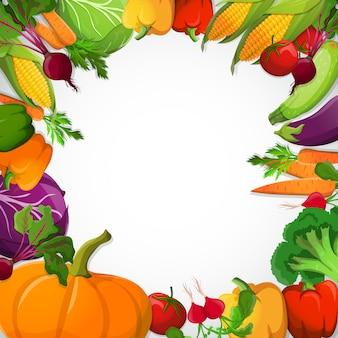 Dekoracyjna rama warzyw