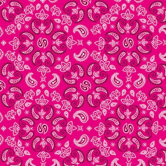 Dekoracyjna różowa bandana we wzór paisley