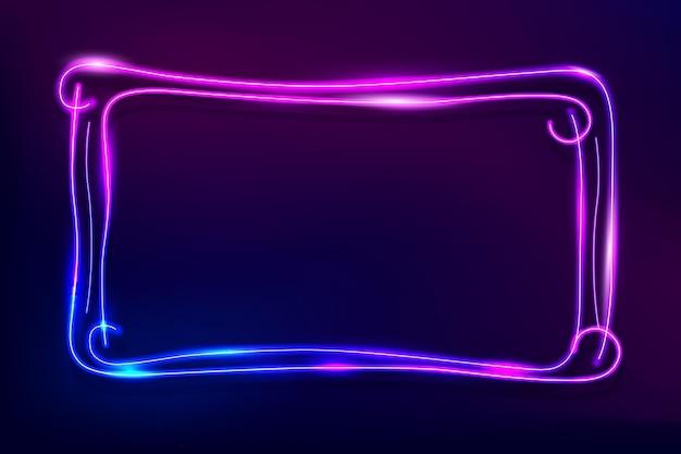Dekoracyjna świecąca neonowa rama
