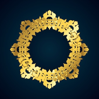 Dekoracyjna złota ramka