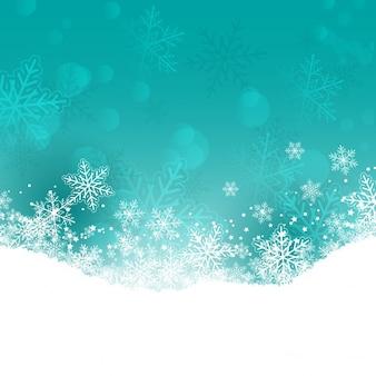 Dekoracyjne christmas tła z płatki śniegu i gwiazd