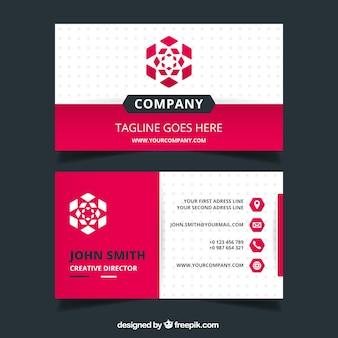 Dekoracyjne karty firmowe w płaskiej konstrukcji