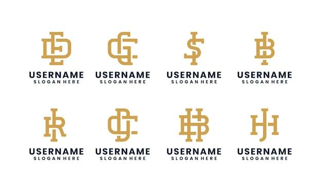 Dekoracyjne kolekcje szablonów logo pierwszej litery