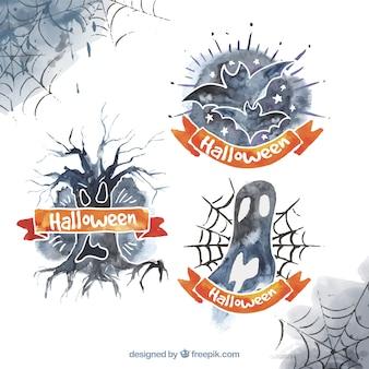 Dekoracyjne naklejki na halloween w akwareli