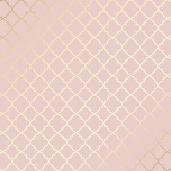 Dekoracyjne różowe złoto wzorzyste tło etniczne