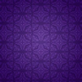 Dekoracyjne tło z fioletowym wzorem adamaszku