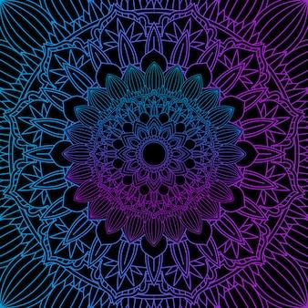 Dekoracyjne tło z kolorowym wzorem mandali