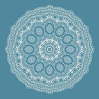 Dekoracyjne tło z koronkowym wzorem doiley