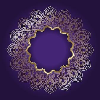 Dekoracyjne tło z ramką złota mandala