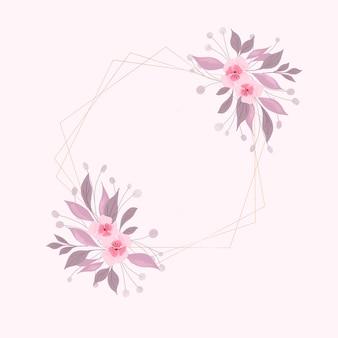 Dekoracyjne tło z ręcznie malowanym akwarelą kwiatowy wzór