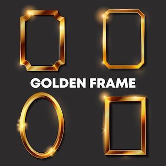 Dekoracyjne vintage złote ramki i obramowania