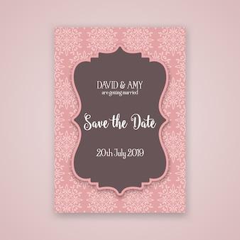 Dekoracyjne zapisz projekt zaproszenia daty