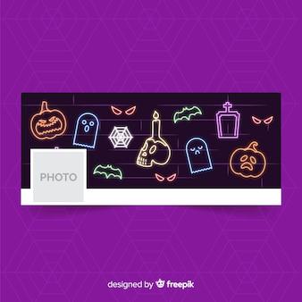 Dekoracyjny banner halloween facebook