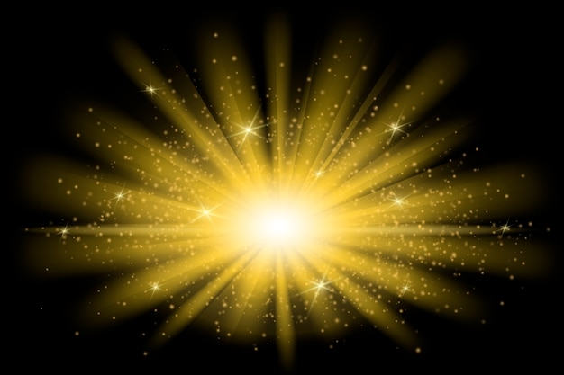 Dekoracyjny efekt świetlny wschodu słońca