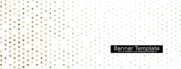 Dekoracyjny elegancki baner półtonowy